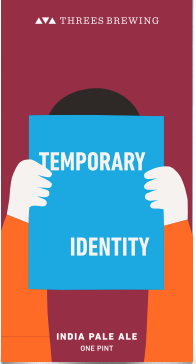 Threes Temporary Identity beer Label Full Size