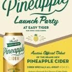 Austin East Pineapple Cider Beer