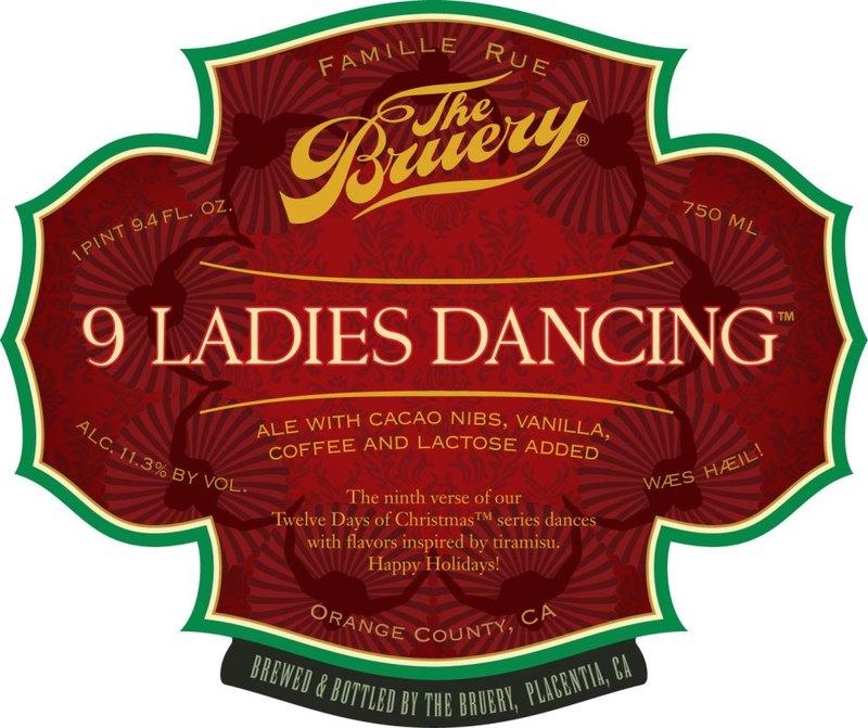 Bruery 9 Ladies Dancing beer Label Full Size