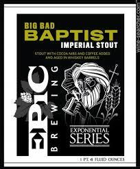 Epic Big Bad Baptist 2016 Beer