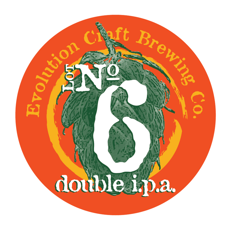 Evolution Lot #6 Double IPA beer Label Full Size