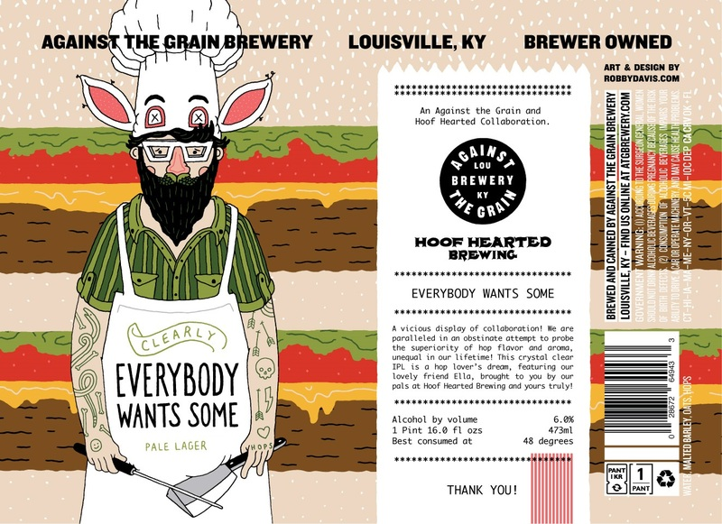 Against The Grain/Hoof Hearted Clearly Everybody Wants Some beer Label Full Size