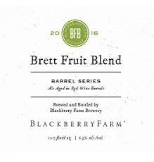 Blackberry Farm Barrel Series Brett Fruit Blend beer Label Full Size