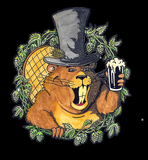 Rusty Beaver Smashed Bastard beer Label Full Size
