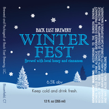 Back East Winterfest Beer