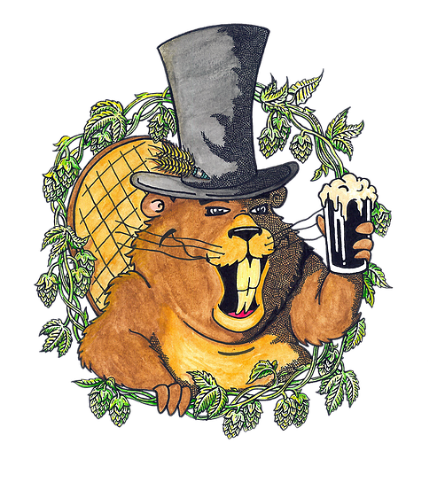 Rusty Beaver The Amazing DIPA Bros beer Label Full Size