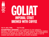 To Ol Goliat Coffee Stout Beer