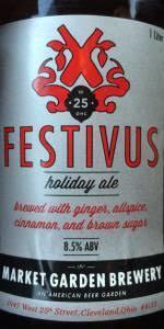 Market Garden Festivus beer Label Full Size