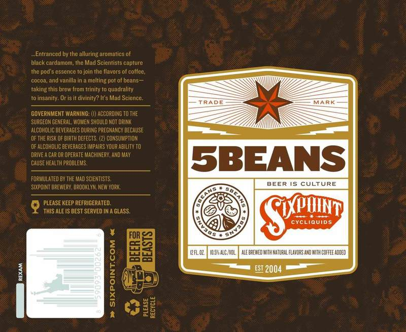 Sixpoint 5Beans beer Label Full Size