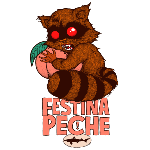 Dogfish Head Festina Pêche beer Label Full Size
