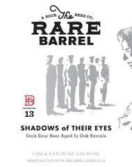 The Rare Barrel Shadows Of Their Eyes beer Label Full Size