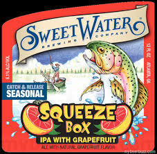 Sweetwater Squeeze Box IPA beer Label Full Size