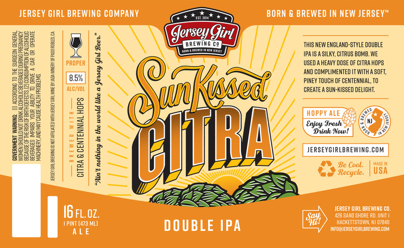 Jersey Girl Sun Kissed Citra beer Label Full Size