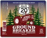 Ground Breaker Route 20 GF IPA beer