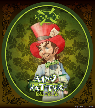 New Holland Mad Hatter IPA beer Label Full Size