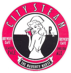 City Steam The Naughty Nurse beer Label Full Size
