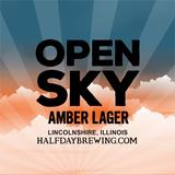 Half Day Open Sky Amber Lager beer