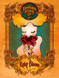 Bloomington Ruby Bloom Amber beer Label Full Size