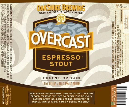 Oakshire Overcast Espresso Stout Nitro beer Label Full Size