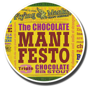 Flying Monkeys The Chocolate Manifesto beer Label Full Size