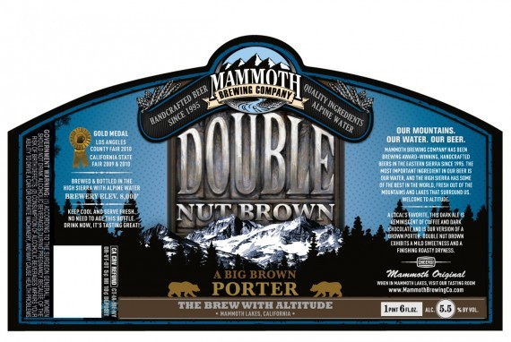 Mammoth Double Nut beer Label Full Size
