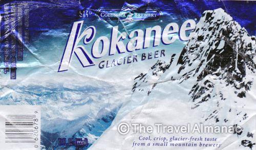 Kokanee Glacier beer Label Full Size