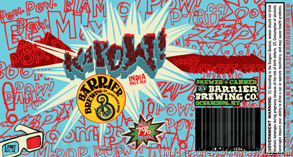Barrier Kapow! IPA beer Label Full Size