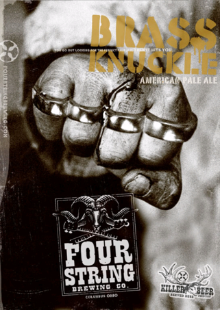 Four String Brass Knuckle Pale Ale beer Label Full Size