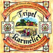 Brouwerij Bosteels Tripel Karmaliet beer Label Full Size