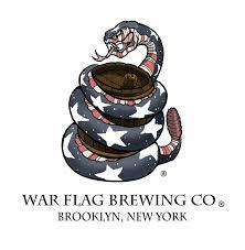 War Flag Lady Justice Stout beer Label Full Size