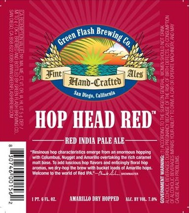 Green Flash Hop Head Red Beer
