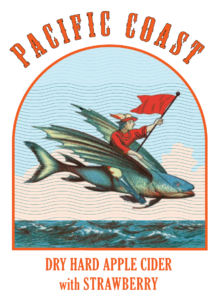 Pacific Coast Bone Dry Cider beer Label Full Size