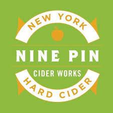 Nine Pin Brandy Bean beer Label Full Size