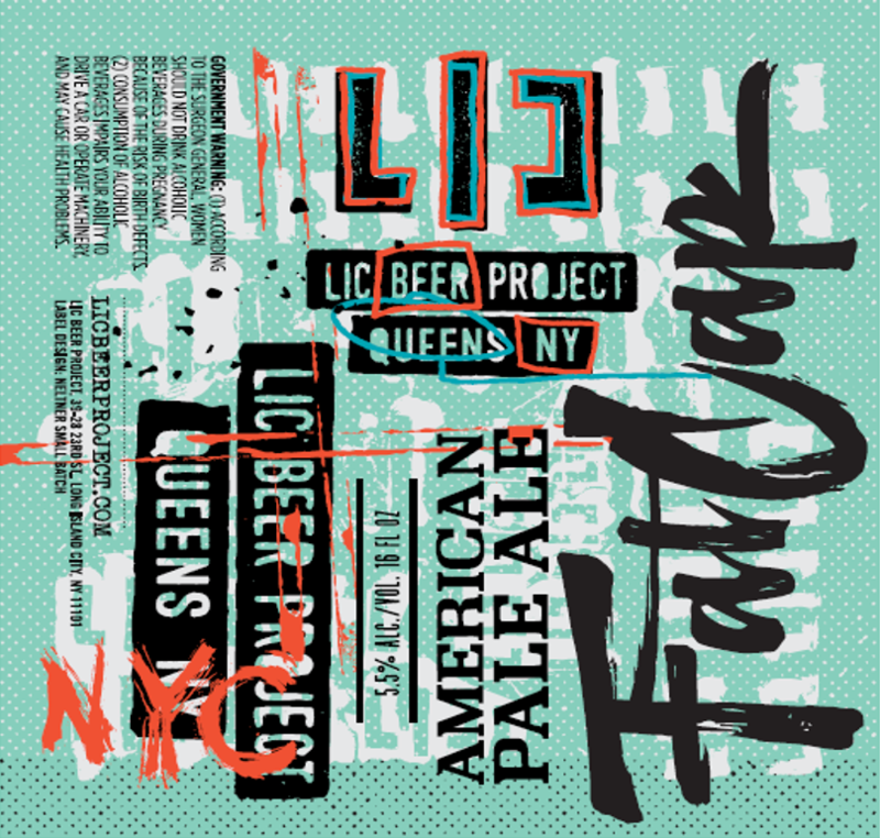LIC Beer Project Fat Cap beer Label Full Size
