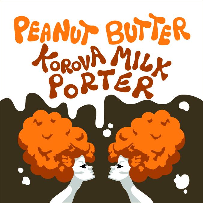 Gnarly Barley Peanut Butter Korova Milk Porter beer Label Full Size