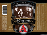 Avery 19th Anniversary beer