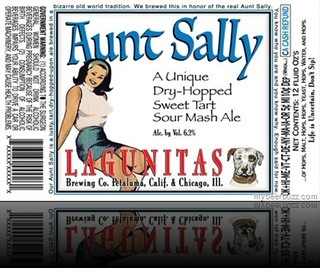Lagunitas Aunt Sally Sour Mash Ale beer Label Full Size