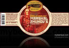 Cigar City Marshal Zhukov's Imperial Stout w/Vanilla & Hazelnut beer Label Full Size