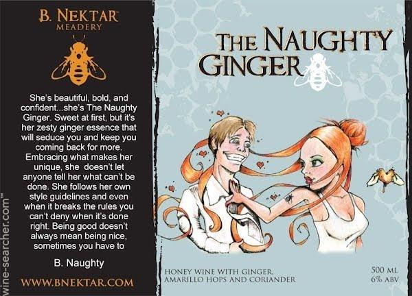B. Nektar The Naughty Ginger beer Label Full Size