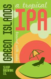 Sloop Green Islands IPA beer Label Full Size