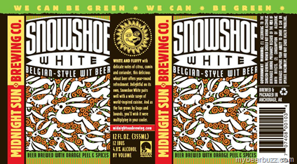 Midnight Sun Snowshoe White Beer