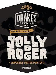 Drake's Barrel Aged Jolly Rodger Imperial Coffee Porter 2016 beer Label Full Size