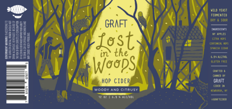 Graft Lost in the Woods beer Label Full Size
