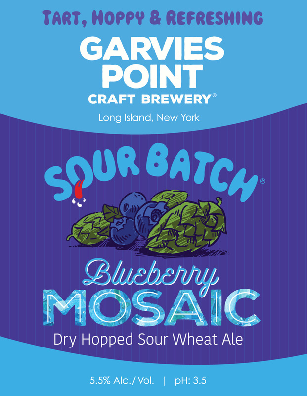 Garvies Point Sour Batch Blueberry Mosaic beer Label Full Size