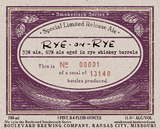 Boulevard Smokestack Series Rye-on-Rye beer