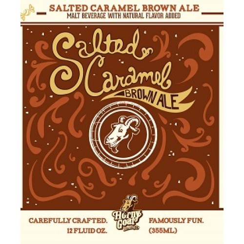 Horny Goat Salted Caramel Brown beer Label Full Size