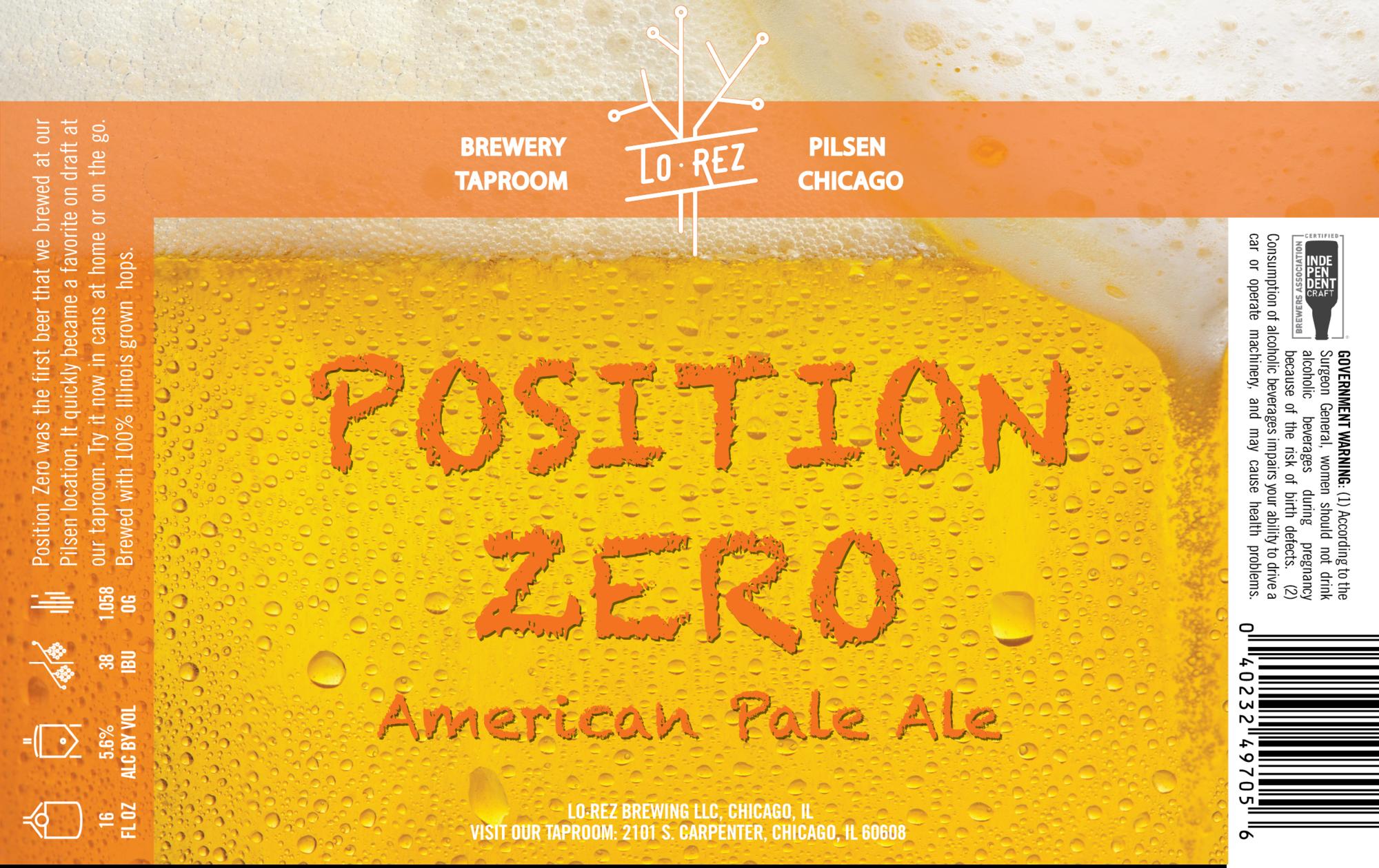 Lo Rez - Position Zero beer Label Full Size