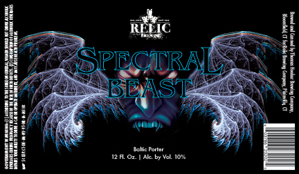 Relic Spectral Beast beer Label Full Size