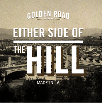 Golden Road Either Side of the Hill beer Label Full Size