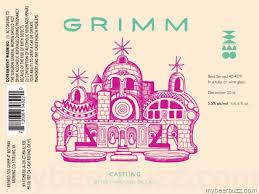 Grimm Castling beer Label Full Size